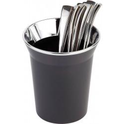 APS Tischreste- / Besteckbehälter Edelstahl/schwarz