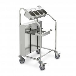 Hupfer Besteck- und Tablettwagen OTA-E / BA-4 x GN