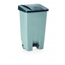 WAS Tretabfallbehälter mit schwarzem Deckel 80 Liter 41 x 50 x 74 cm Polyethylen