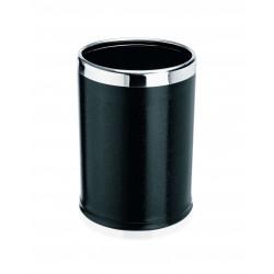 WAS Papierkorb Ø 22 cm Höhe 31,5 cm schwarz pulverbeschichtet Stahl