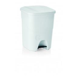 WAS Treteimer mit weißem Deckel 25 Liter 25 x 40 x 41,5 cm Polypropylen