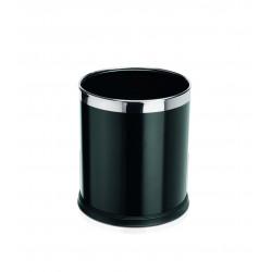 WAS Papierkorb Ø 22 cm Höhe 25 cm schwarz pulverbeschichtet Stahl