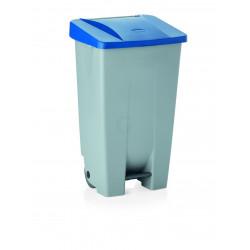 WAS Tretabfallbehälter mit blauem Deckel 80 Liter 41 x 50 x 74 cm Polyethylen