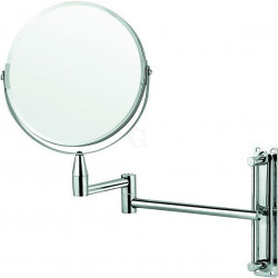 WAS Kosmetikspiegel zur Wandmontage Ø 20 cm verchromt