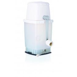 WAS Eiszerkleinerer mit Handkurbel und Saugfuß 13,5 x 12 x 24,5 cm Kunststoff