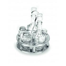 WAS Menage 1480 5-teilig Essig & Öl Salz & Pfeffer Zahnstocher Glas