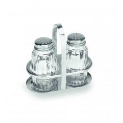 WAS Menage 1480 2-teilig Salz & Pfeffer Glas