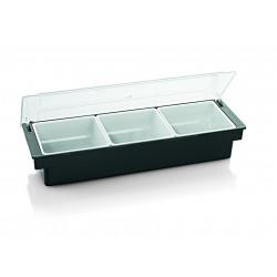 WAS Zutatenbehälter mit 5 Einsätzen à 0,55 Liter 50 x 16 x 9 cm ABS Kunststoff/Polycarbonat
