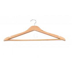 WAS Kleiderbügel mit Einkerbungen und Steg 44,5 x 1,2 x 23 cm Holz natur