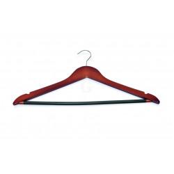 WAS Kleiderbügel mit Einkerbungen und rutschfestem Steg 44,5 x 1,2 x 23 cm Holz walnuss