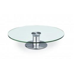 WAS Tortenplatte Ø 30 cm Glas/Edelstahl