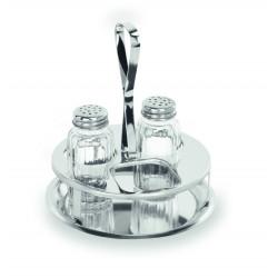 WAS Menage 1480 3-teilig Salz ,Pfeffer & Aussparung für Maggiflasche Glas