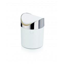 WAS Tischabfalleimer mit Schwingdeckel Ø 12 cm weiß Kunststoff