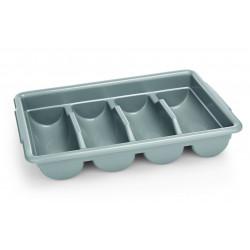 WAS GN Besteckkasten mit 4 Einteilungen 1/1 Polyethylen