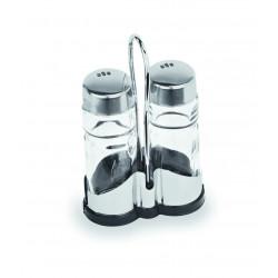 WAS Menage 1755 2-teilig Salz & Pfeffer 12 cm Glas