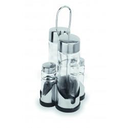 WAS Menage 1755 4-teilig Essig & Öl Salz & Pfeffer 20 cm Glas