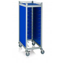 WAS Tablettwagen Trolley Cucina für Tabletts 45,5 x35,5 cm blau 59,5 x 91 x 168 cm Aluminium