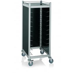 WAS GN Tablettwagen Trolley Cucina für GN 1/1 schwarz 66,5 x 82 x 168 cm Aluminium