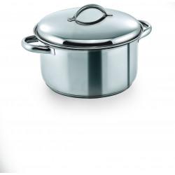 WAS Fleischtopf mit Deckel Cookware 19 Ø 24 cm 6 Liter Chromnickelstahl