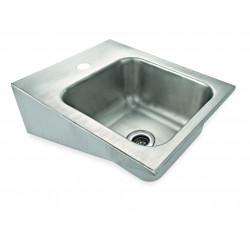 WAS Handwaschbecken zur Wandmontage 42 x 32,5 x 16,5 cm Chromnickelstahl