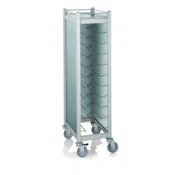 WAS GN Tablettwagen Trolley Cucina für GN 1/1 silber 68 x 46 x 168 cm Aluminium