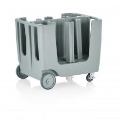 WAS Geschirrwagen mit 4 Einteilungen mit Schutzhülle,93 x 73 x 78 cm Polyethylen