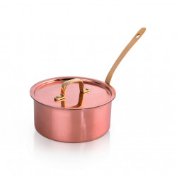 WAS Servierkasserolle mit Deckel Copper Look 20 Ø 16 cm Chromnickelstahl-Kupfer