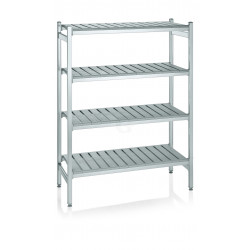 WAS Lagerregal System Klick-System 126,5 x 54 x 170 cm Aluminium/Polyethylen