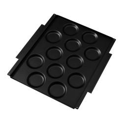 MKN Muldenblech antihaftbeschichtet 12 Mulden FlexiRack 530 x 570 mm