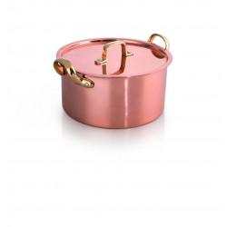 WAS Serviertopf mit Deckel Copper Look 20 Ø 20cm Chromnickelstahl-Kupfer