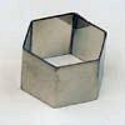 Kronen Edelstahlform Sechseck 35 mm