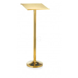 WAS Auslagepult Höhe 118 cm Pult 44 x 34,5 cm goldfarben Chromnickelstahl