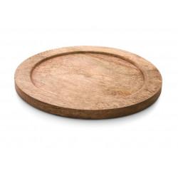 WAS Holzuntersetzer Ø 30 cm für Ø 28 cm