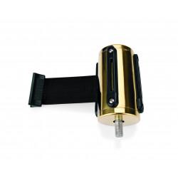 WAS Gurtband Highflex goldfarben 2 m schwarz Edelstahl Polyester