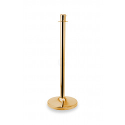 WAS Abgrenzungspfosten Classic Zylinder goldfarben Edelstahl