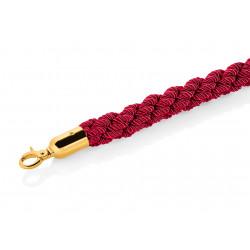 WAS Verbindungskordel Classic Ø 3,2 cm 1,5 m rot goldfarben Edelstahl Polyester