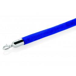 WAS Verbindungstau Classic Ø 3,2 cm 1,5 m blau Velours hochglanzpoliert verchromt