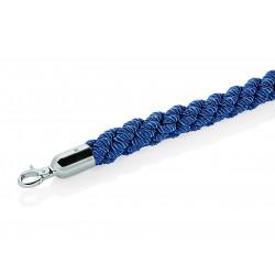 WAS Verbindungskordel Classic Ø 3,2 cm 1,5 m blau Polyester hochglanzpoliert verchromt