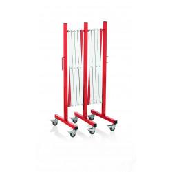 WAS Scherensperre mit 6 Rollen bis 4 m rot/weiß Aluminium