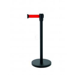 WAS Abgrenzungspfosten Ecoflex schwarz lackiert 4 m rot Edelstahl