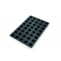 WAS Muffin Cake Pan 31 black 40 Formen Ø 5 cm Silikon