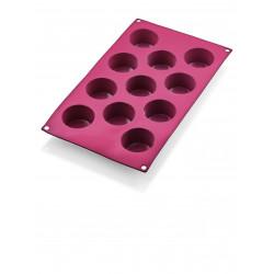 WAS Muffin Cake Pan 31 red 6 Formen Ø 6,5 cm Silikon