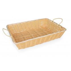 WAS Buffetkorb Basket 3140 mit Seitengriffen,51 x 36 x 11 cm Polypropylen