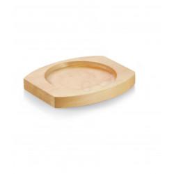 WAS Holzuntersetzer für 3525 100/101/102 Ø 10 cm 13 x 11 x 1,6 cm