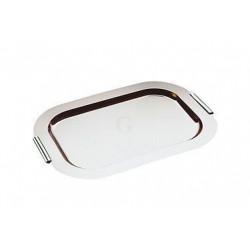APS Tablett FINESSE verchromte Messing-Griffe 52x38 cm