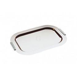APS Tablett FINESSE verchromte Messing-Griffe 44x31 cm