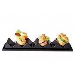 APS Snackpresenter schwarz 6 Brötchen