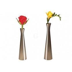 APS Vase Edelstahl-Look 4x16,5 cm