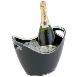 APS Wein-/ Sektkühler Acryl/Polystyrol schwarz 27x20x21 cm