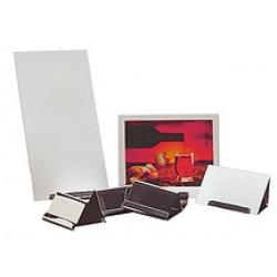 APS Tischkartenhalter Edelstahl mattiert 7x4,8x9 cm